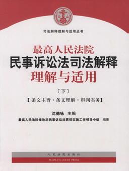 最高人民法院民事诉讼法司法解释理解与适用(下)