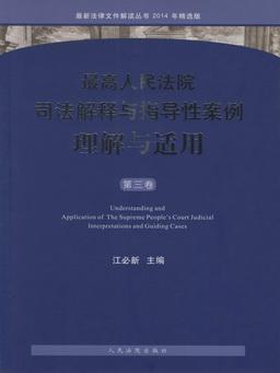 最高人民法院司法解释与指导性案例理解与适用